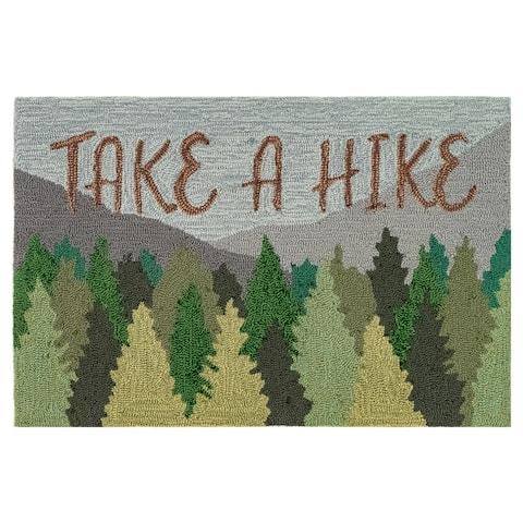 Liora Manne Frontporch Take A Hike Indoor/Outdoor Rug Forest