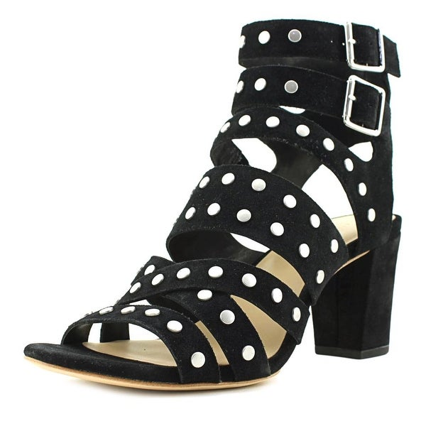 Loeffler Randall Galia Women Open Toe Suede Black Gladiator Sandal