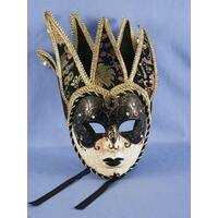 Dark Princess Mardi Gras Adult Costume Mask - Black