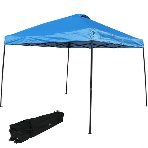 Sunnydaze Heavy-Duty Straight Leg Instant Canopy Event Shelter, 10 x 10 Foot, Includes Rolling Bag