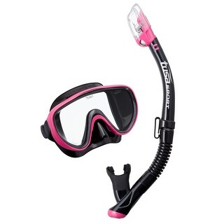 TUSA Unisex-Adult Serene Dry Mask Snorkel Combo