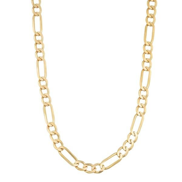 Mcs Jewelry Inc 14 KARAT YELLOW GOLD LIGHTWEIGHT FIGARO CHAIN NECKLACE (3.5MM)