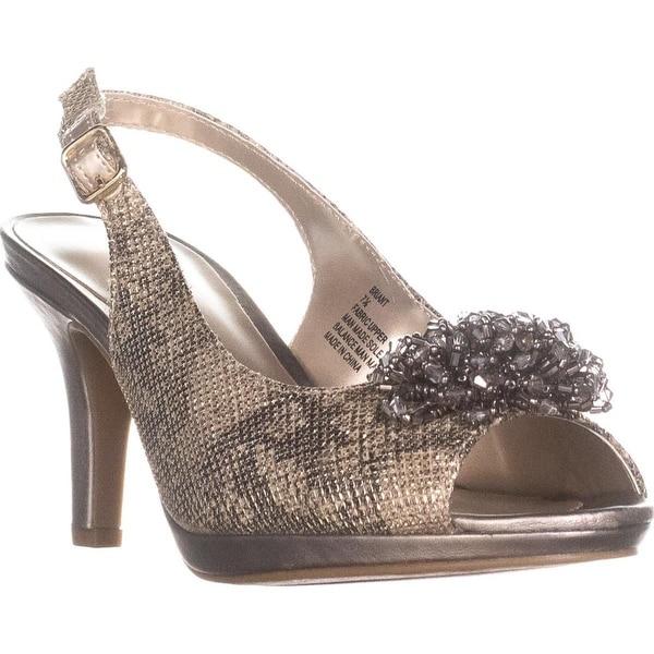 KS35 Briant Slingback Evening Sandals, Gold