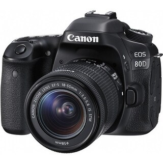 Canon EOS 80D DSLR Camera with EF-S 18-55mm f/3.5-5.6 IS USM Lens