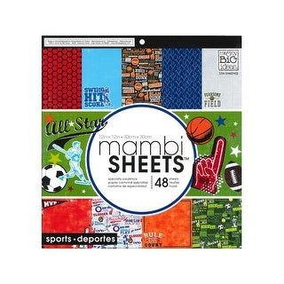 MAMBI Sheets Cdstk Pad 12x12 All Star Sports
