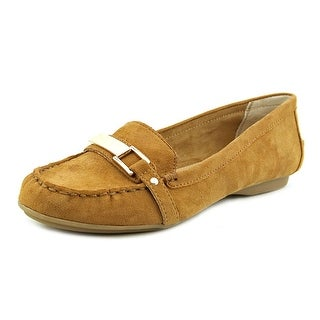 Alfani Girra Women Round Toe Suede Tan Loafer