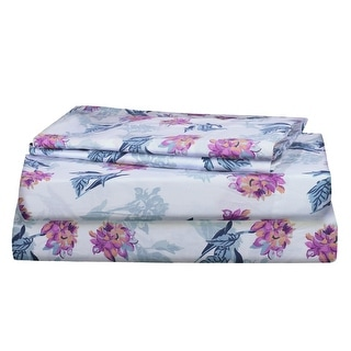 RENAURAA Pure Cotton Sheet Set, Smooth Percale Weave
