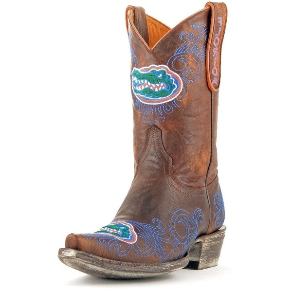 Gameday Boots Womens College Team Florida Gators Brass Blue