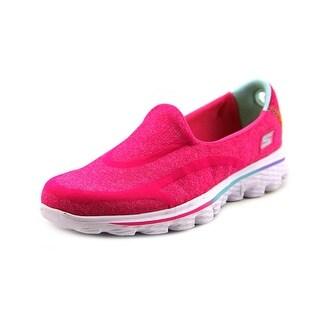 Skechers Go Walk 3 Round Toe Canvas Walking Shoe