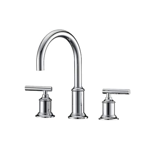 Water Creation F2-0014 Modern Gooseneck Spout 8 In. Widespread 2-Handle Faucet