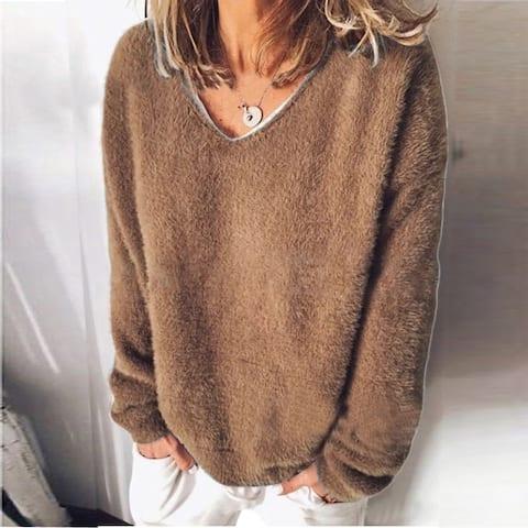 Long Sleeve Loose T-Shirt Women's Sweater S-5Xl