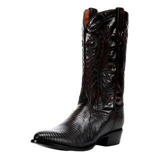 Dan Post Western Boots Men Raleigh Lizard Leather Black Cherry DP2352R