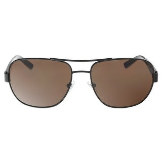 DKNY DY5079 100473 Dark Brown Havana Aviator Sunglasses - 58-17-140
