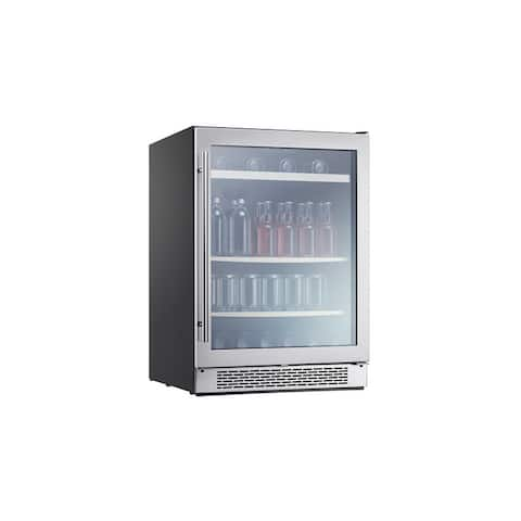 "Zephyr PRB24C01BG Presrv 24"" Wide 112 Can Capacity Beverage Center with PreciseTemp Sensors - Stainless Steel"