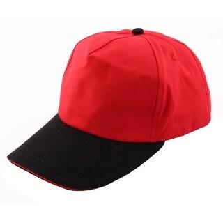 Outdoor Travel Cotton Blends Adjustable Loop Golf Baseball Cap Sports Hat Red