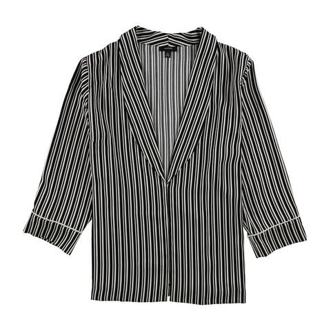 Alfani Womens Striped Jacket