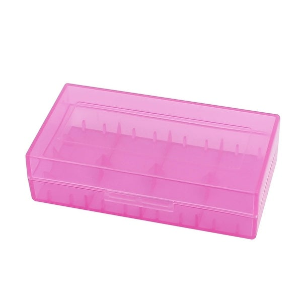 78mmx42mmx21mm Hard Plastic Battery Storage Case Holder Organizer Purple