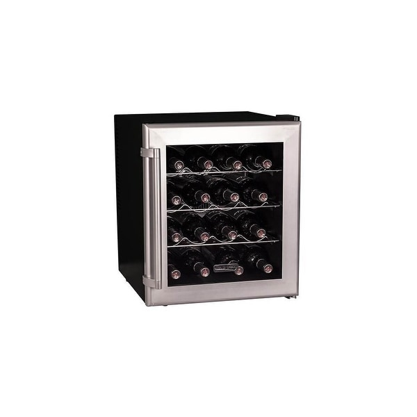 """Koldfront TWR160 17"""" Wide 16 Bottle Wine Cooler with Thermoelectric Cooling - Stainless Steel - N/A"""