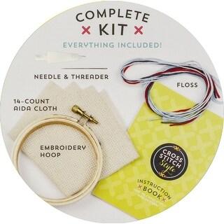 Cross Stitch Style Hoop Ornament Kit-O Beautiful