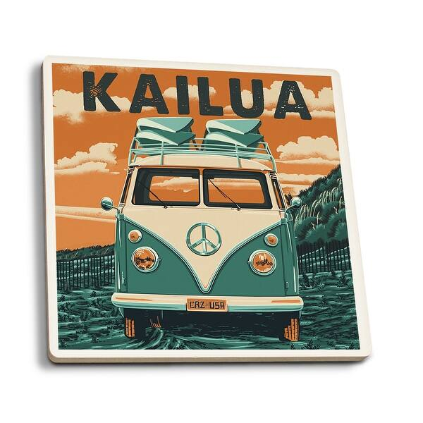 Shop Kailua, Hawaii - Camper Van - Aloha - Letterpress