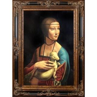 Leonardo da Vinci 'Lady With an Ermine' Hand Painted Oil Reproduction