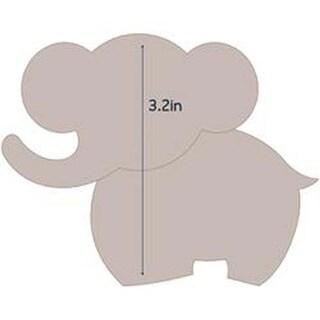 "Elephant 1 - Applique 4""X3.2"" - Couture Creations Quilt Essentials Quilting Die"