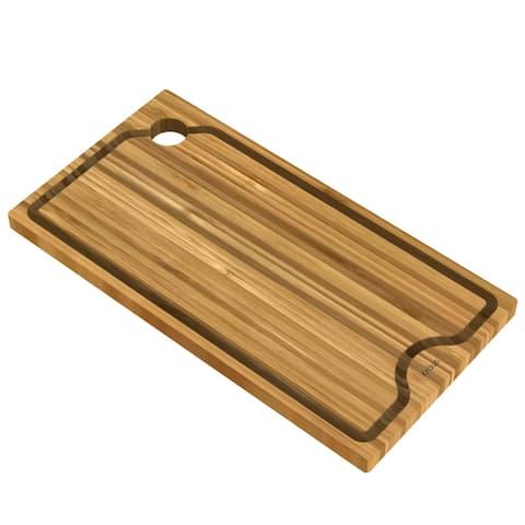 KRAUS Workstation Kitchen Sink Solid Bamboo Cutting Board