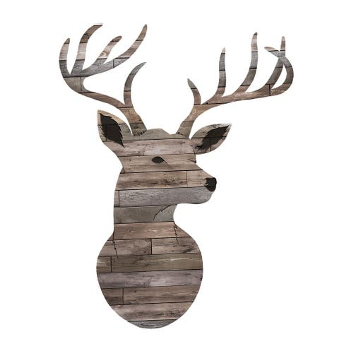 Brewster DWPK2846 3 Piece Oh Deer Wall Decorating Kit - Brown