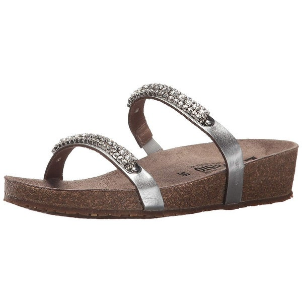 255559a598 Shop Mephisto Womens Ivana Leather Open Toe Casual Slide Sandals ...