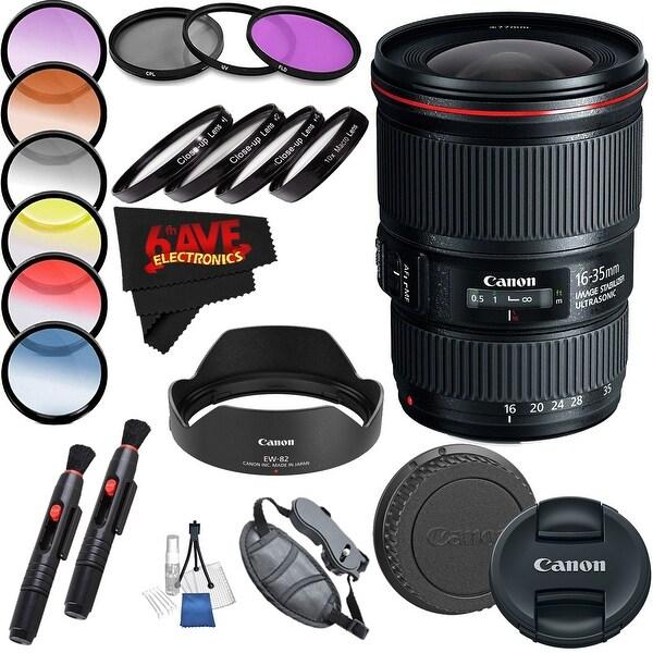 Canon EF 16-35mm f/4L IS USM Lens (International Model) International Version (No Warranty) Professional Accessory Combo