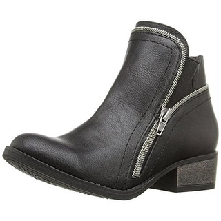 Steve Madden Girls Windeee Ankle Boots Textured Faux Leather - 2 medium (b,m)