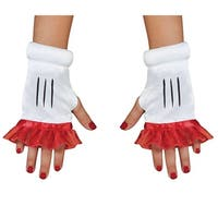 Red Minnie Mouse Fingerless Glovettes For Girls - standard - one size