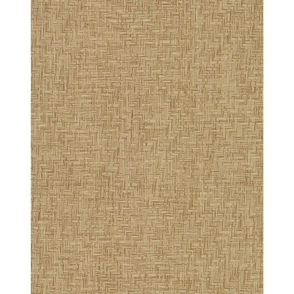 York Wallcoverings Vg4420 Interlocking 72 Sq Ft Sisal Pre Pasted Wallpaper From The Grasscloth By York Ii Collection
