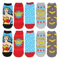 DC Comics Wonder Woman Mix N' Match No-Show Ankle Socks 5 Pack