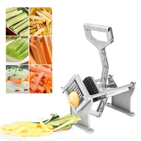 """French Fries Machine with Single 3/8"""" Blade Silver & Black"""