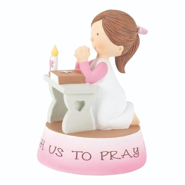 "6"" Pink Girls Teach Us To Pray Resin Figurine - N/A"