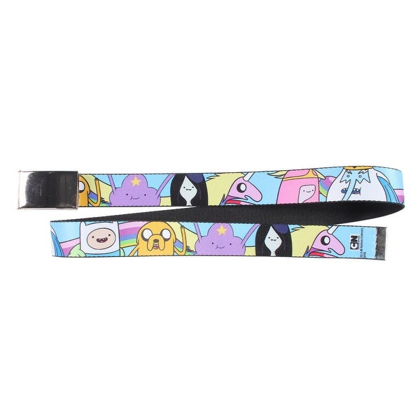 Adventure Time Character Cast Faces Web Belt with Chrome Buckle