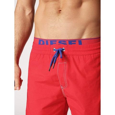Diesel Men's Dolphin Solid Swim Short, red, XX-Large