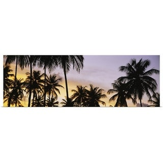 Shop Silhouette Of Palm Trees At Sunset Pigeon Point