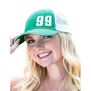 Cowgirl Tuff Western Hat Womens Trucker Cap Mesh Green White S00841