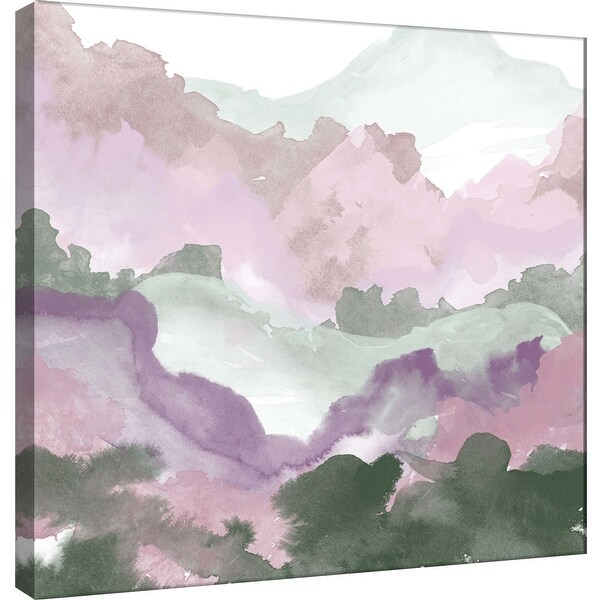 """PTM Images 9-101162 PTM Canvas Collection 12"""" x 12"""" - """"Layers of Spring A"""" Giclee Forests and Mountains Art Print on Canvas"""