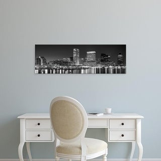 Easy Art Prints Panoramic Images's 'City at the waterfront, Baltimore, Maryland, USA' Premium Canvas Art