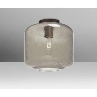 "Besa Lighting NILES10SMC Niles Single Light 9-1/2"" Wide Semi Flush Ceiling Fixture"