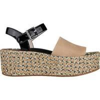 Kenneth Cole New York Women's Danton Platform Sandal Buff/Multi Suede
