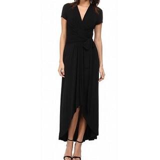 Michael Kors NEW Black Women's Size 4 Asymmetrical Hem V-Neck Dress