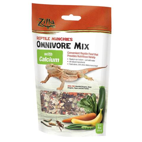 Zilla Reptile Munchies Omnivore with Calcium 4 ounces - 4 ounces