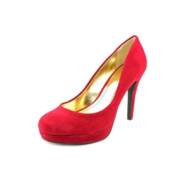 Style & Co Alia Women Open Toe Canvas Burgundy Platform Heel