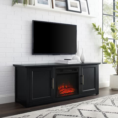 """Camden 58"""" Low Profile Tv Stand W/Fireplace - 58 W x 15.75 D x 22 H"""