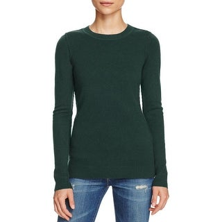 Aqua Womens Crewneck Sweater Cashmere Long Sleeves