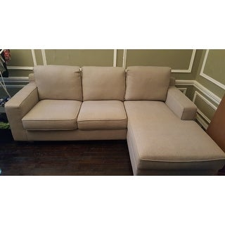 Shop Sectional Sofa With Chaise In Light Grey   On Sale   Free Shipping  Today   Overstock.com   8654679